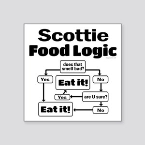 "Scottie Food Square Sticker 3"" x 3"""