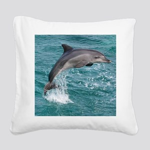 DOLPHIN Square Canvas Pillow