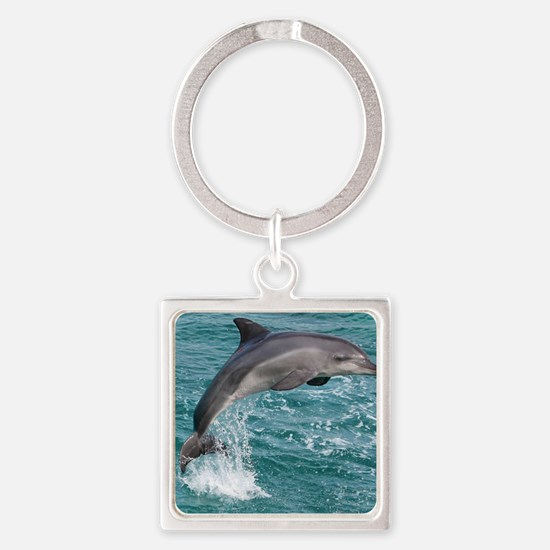DOLPHIN Square Keychain