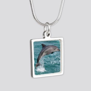 DOLPHIN Silver Square Necklace