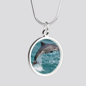 DOLPHIN Silver Round Necklace