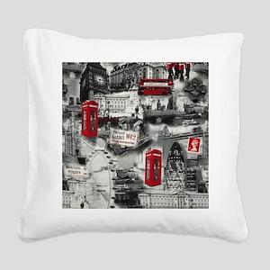 London Square Canvas Pillow