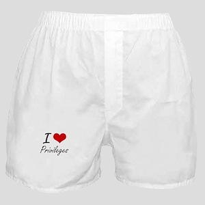 I Love Privileges Boxer Shorts