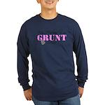 My Husband is a Grunt 0341 Long Sleeve Dark T-Shi