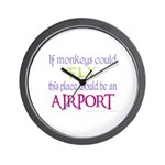 If Monkeys Could Fly Wall Clock