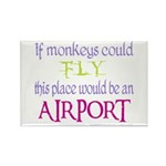 If Monkeys Could Fly Rectangle Magnet (100 pack)
