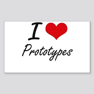 I Love Prototypes Sticker