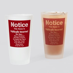 Politically Incorrect Drinking Glass