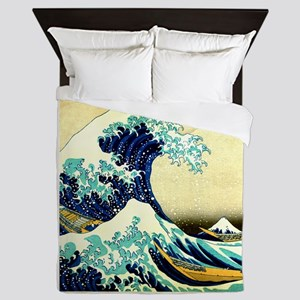 The Great Wave off Kanagawa Queen Duvet