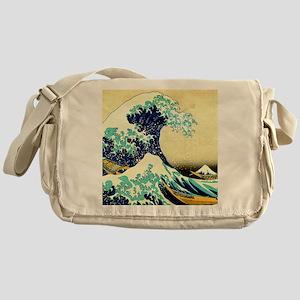 The Great Wave off Kanagawa Messenger Bag