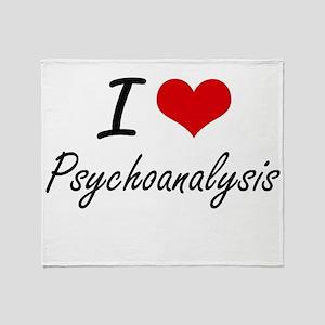 I Love Psychoanalysis Throw Blanket