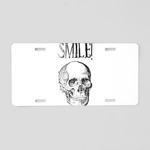 Smile! Skull smiling Aluminum License Plate