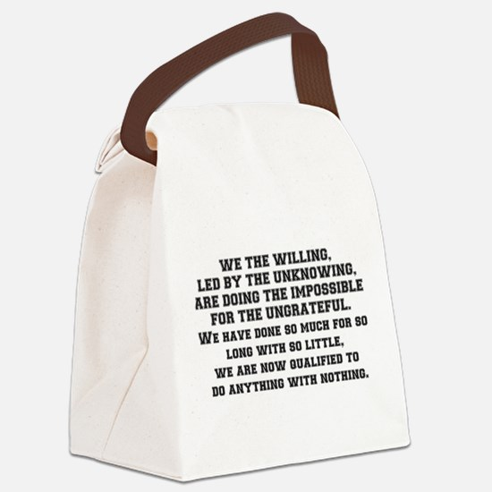 WE THE WILLING Canvas Lunch Bag