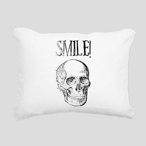 Smile! Skull smiling Rectangular Canvas Pillow