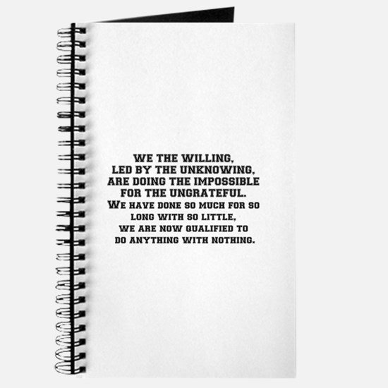 WE THE WILLING Journal