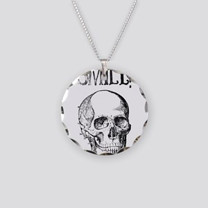 Smile! Skull smiling Necklace Circle Charm
