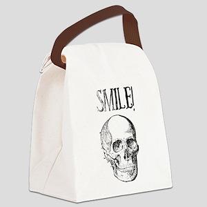 Smile! Skull smiling Canvas Lunch Bag