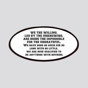 WE THE WILLING Patch
