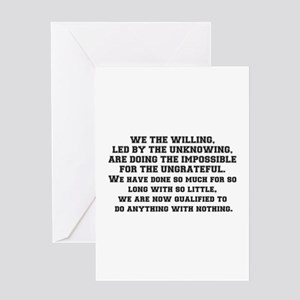 WE THE WILLING Greeting Cards