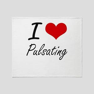I Love Pulsating Throw Blanket
