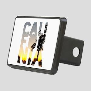 CA for California - Typo Rectangular Hitch Cover