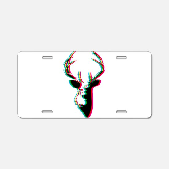 3D Deer - Awesome & Psychad Aluminum License Plate