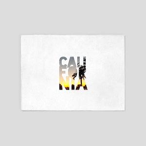 CA for California - Typo 5'x7'Area Rug