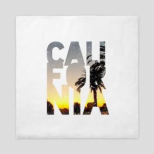 CA for California - Typo Queen Duvet