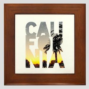 CA for California - Typo Framed Tile