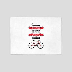 Ich habe immer ein Fahrrad im Koffe 5'x7'Area Rug