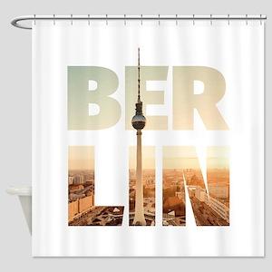 BERLIN CITY – Typo Shower Curtain