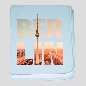 BERLIN CITY – Typo baby blanket
