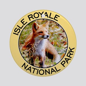 Isle Royale NP (Red Fox) Ornament (Round)