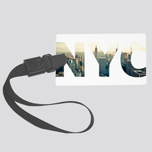 NYC for NEW YORK CITY - Typo Large Luggage Tag