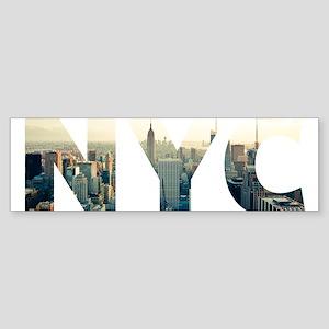 NYC for NEW YORK CITY - Typo Bumper Sticker