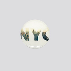 NYC for NEW YORK CITY - Typo Mini Button