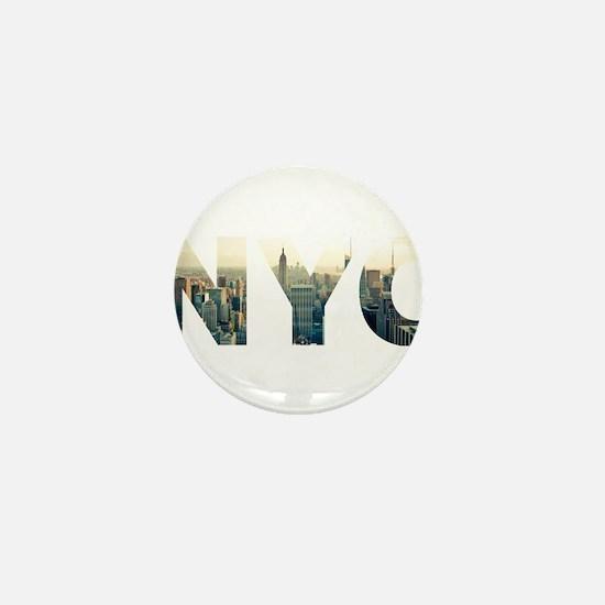 NYC for NEW YORK CITY - Typo Mini Button