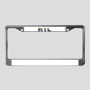 NYC for NEW YORK CITY - Typo License Plate Frame