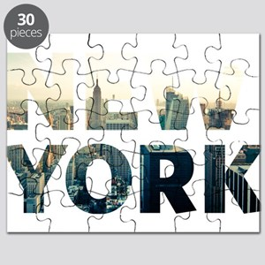 New York - Sunset - Typo Puzzle