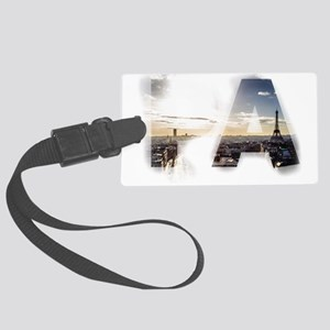 Paris - Sunrise - Capital - Fran Large Luggage Tag