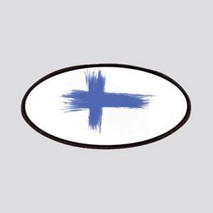 Finland Flag brush style Patch