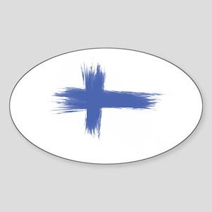 Finland Flag brush style Sticker