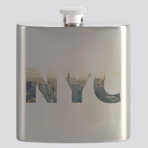 NYC for NEW YORK CITY - Typo Flask