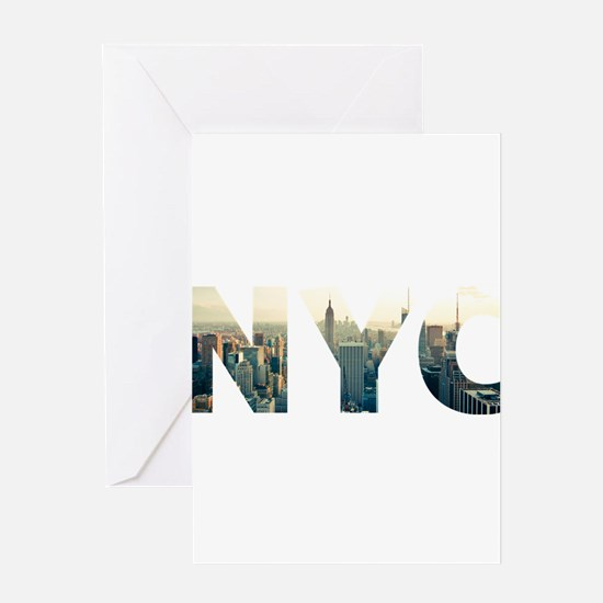 NYC for NEW YORK CITY - Typo Greeting Cards