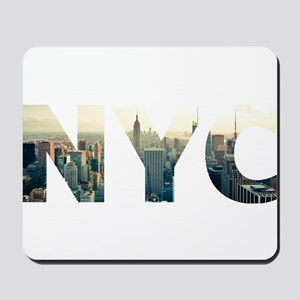 NYC for NEW YORK CITY - Typo Mousepad