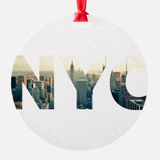 NYC for NEW YORK CITY - Typo Ornament