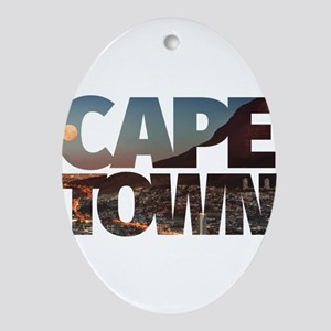 CAPE TOWN CITY – Typo Oval Ornament