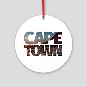 CAPE TOWN CITY – Typo Round Ornament