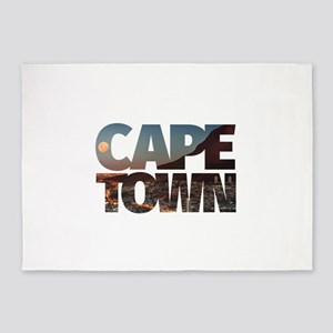 CAPE TOWN CITY – Typo 5'x7'Area Rug