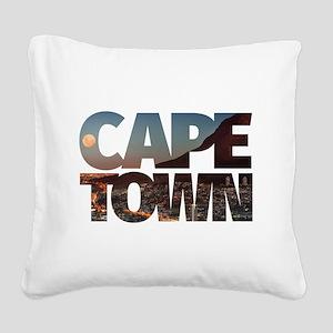 CAPE TOWN CITY – Typo Square Canvas Pillow